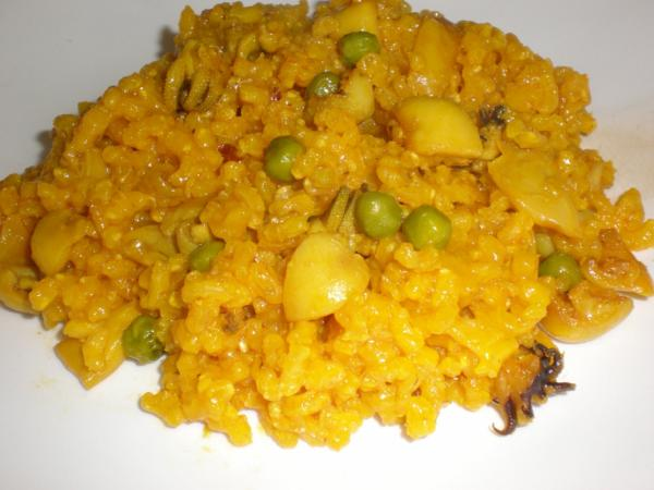 Arroz integral con sepia