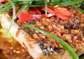 Lubina estilo vietnamita