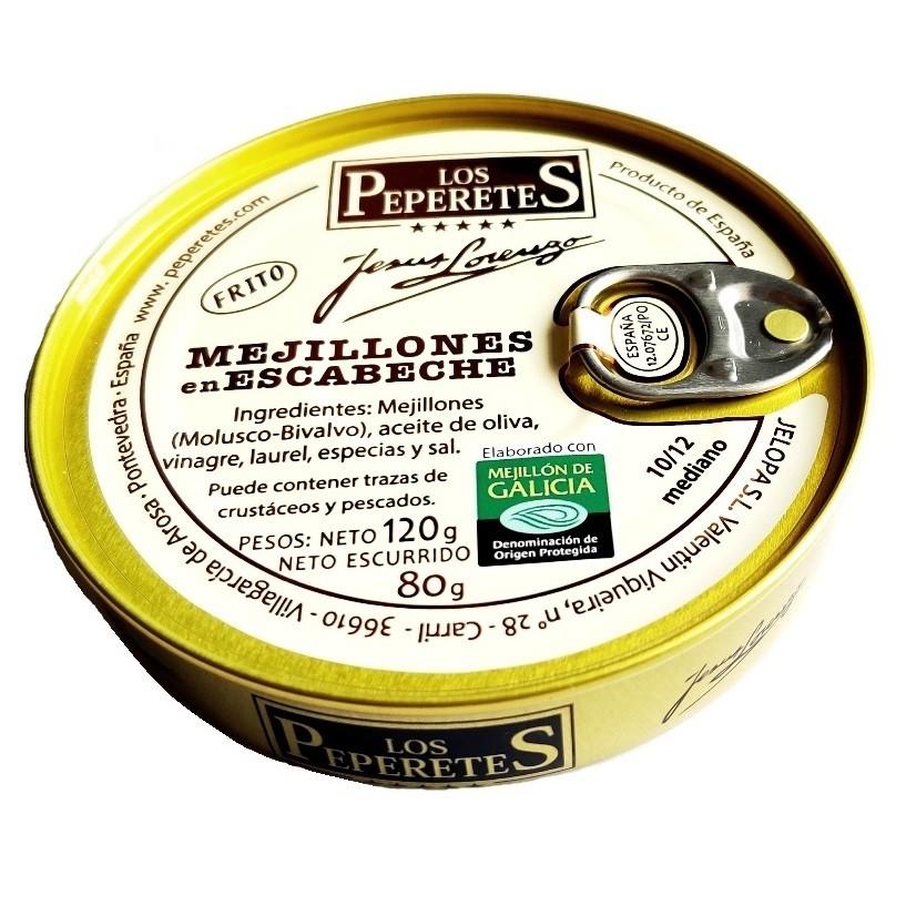 Mejillón escabeche 10/12 pz. Los Peperetes 120 gr