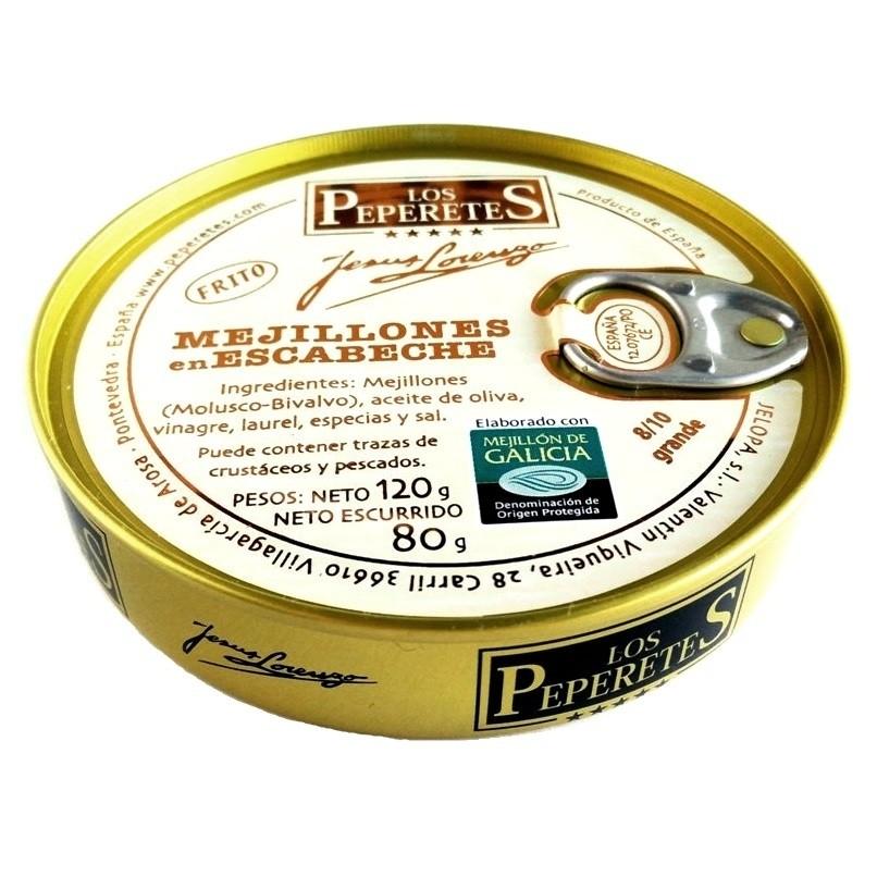 Mejillón escabeche 8/10 pz. Los Peperetes 120 gr
