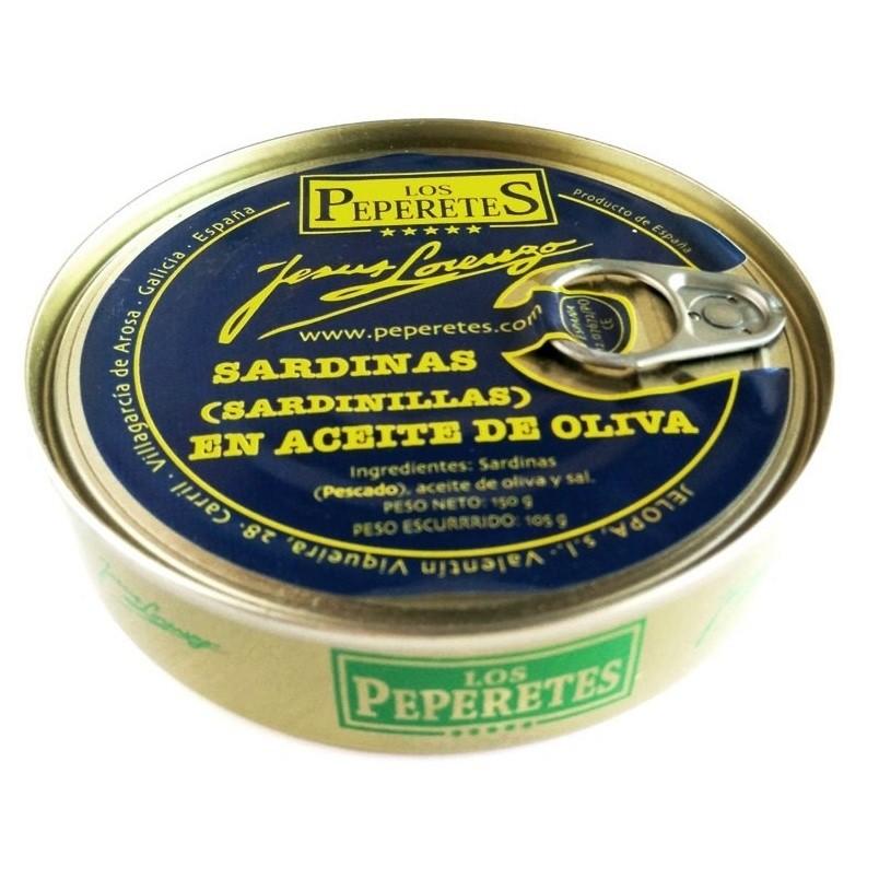 Sardinas en aceite de oliva Los Peperetes 150gr