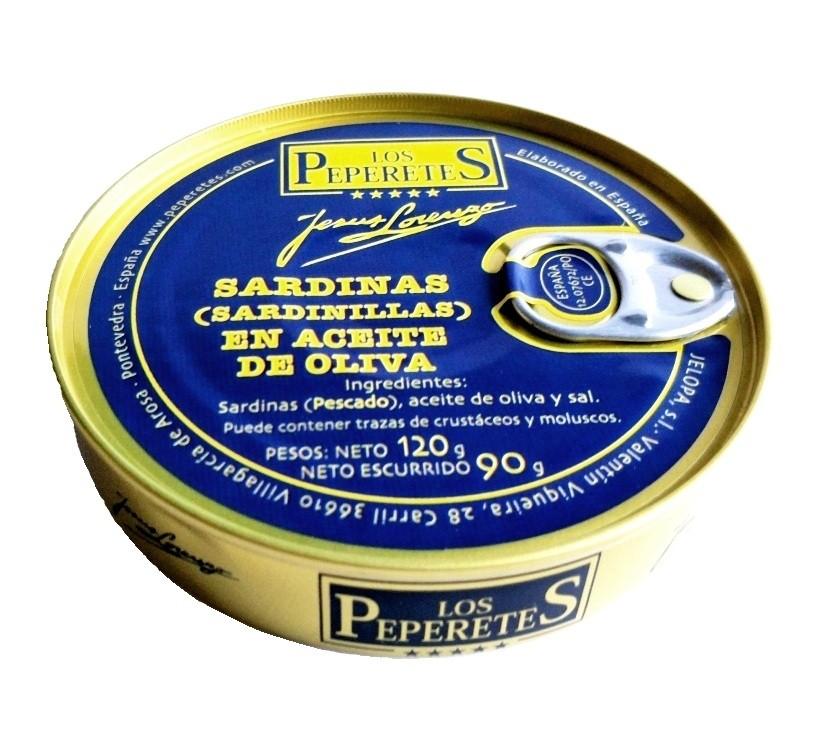 Sardinas en aceite de oliva Los Peperetes 120 gr