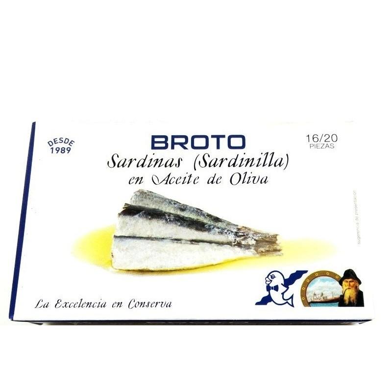 Sardinas en aceite oliva Broto 115 gr