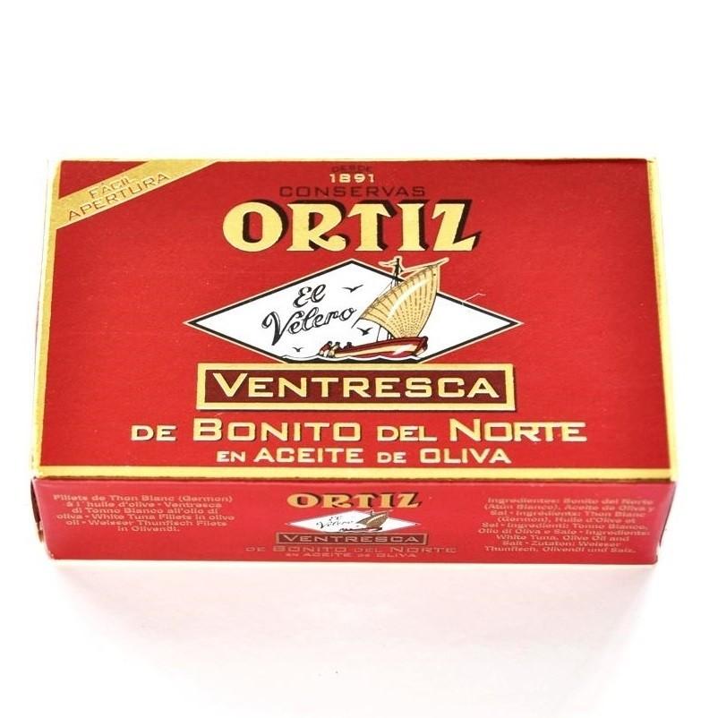 Ventresca de bonito en aceite Ortiz 110gr