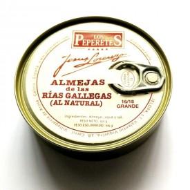 Almejas al natural 16/18 pz. Los Peperetes 150gr